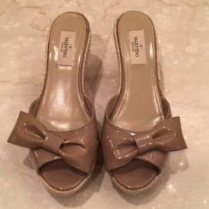 VALENTINO WEDGE SLIDES AUTHENTIC